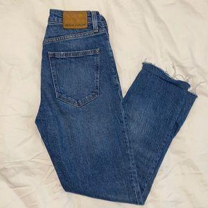 Aritzia Denim Forum Yoko High Rise Slim Jeans